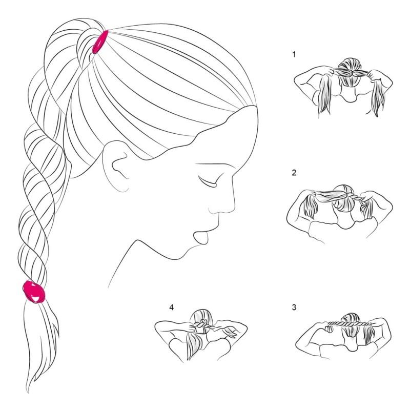 коса на 4 пряди схема