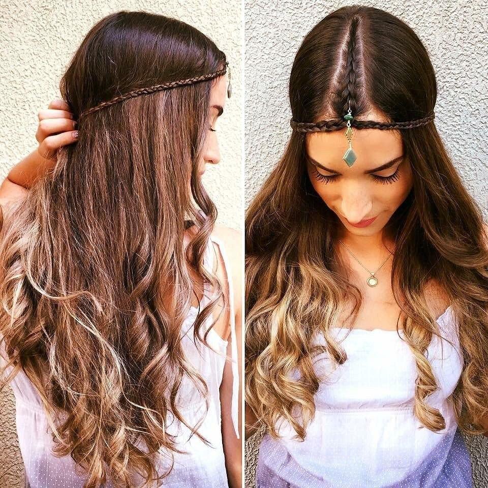 Прически с распущенными волосами для подростков6