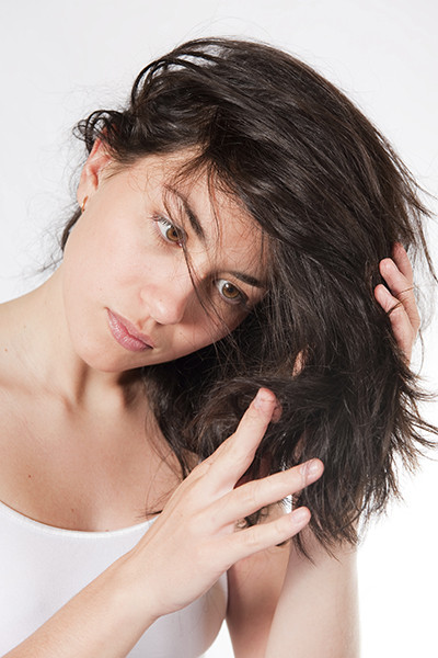 Волосы с остатками кондиционера