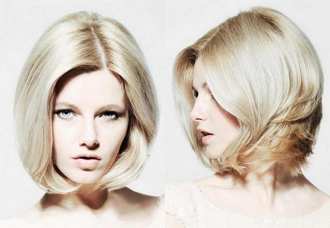 Укладка волоса с переди