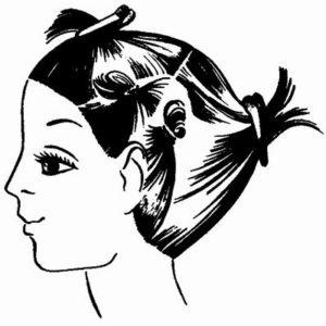 Разделение волос под окрашивание