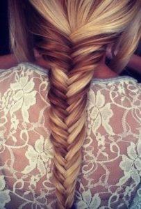 Покраска волос в косе
