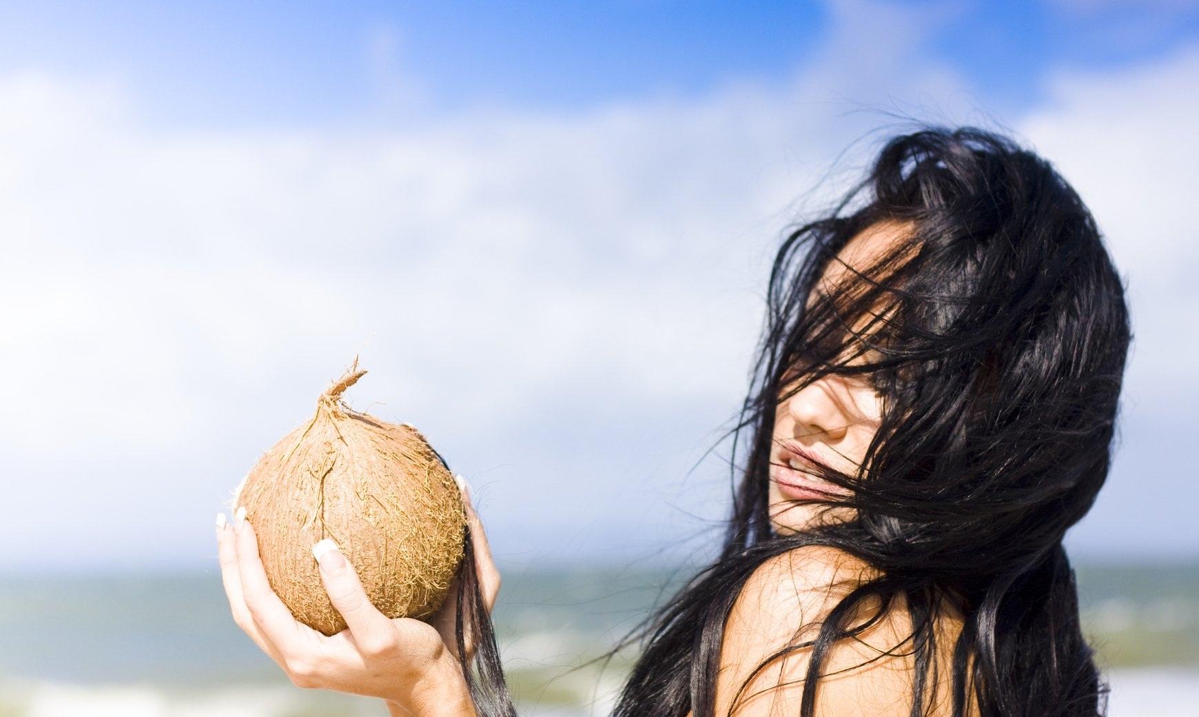 Маска с кокосом для волос
