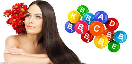 Витамин А и В для волос