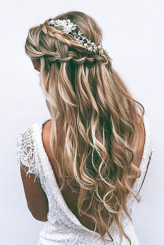 Плетение водопад для прически невесты