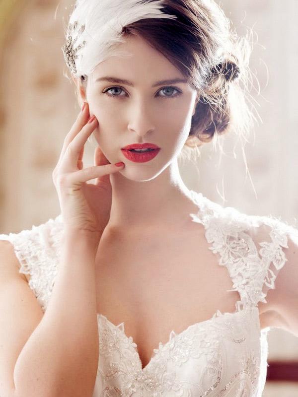 Прическа для невесты свадебная в стиле модерн