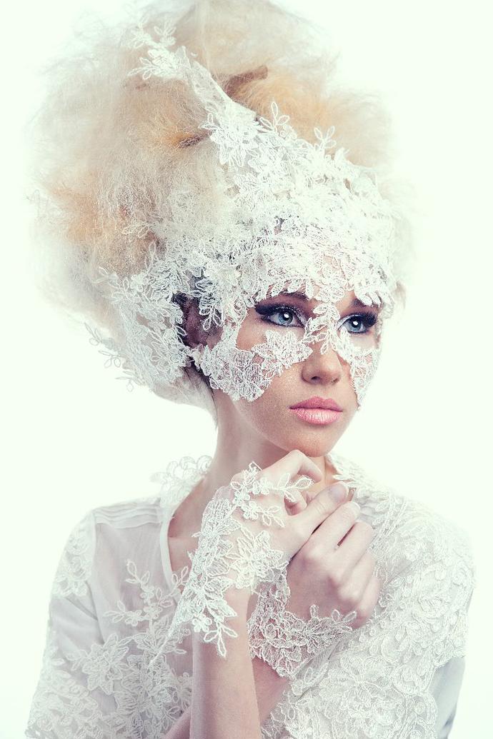 Прическа невесты самая необычная
