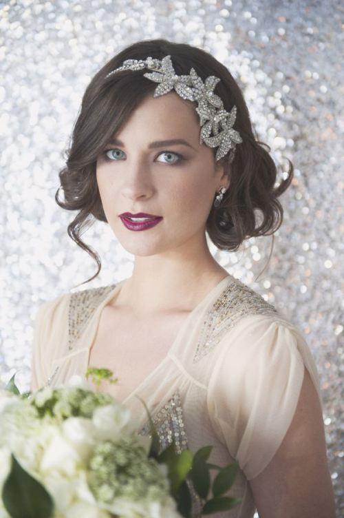 Прическа на свадьбу в стиле винтаж