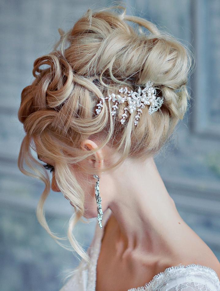 Необычные свадебные прически самые модные