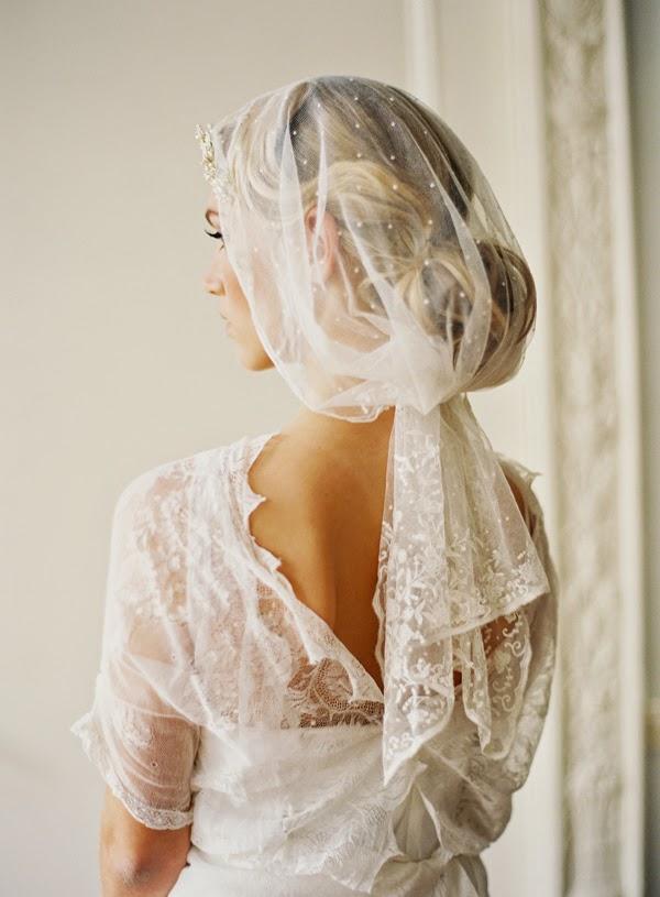 Свадебная укладка обернутая фатой