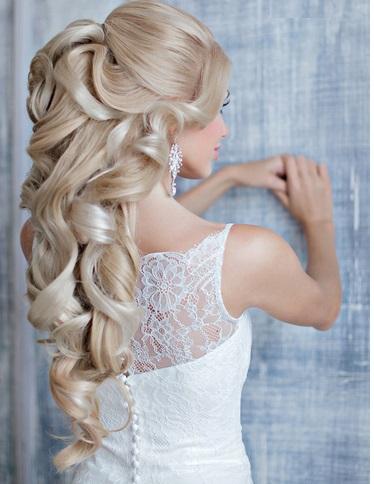 Свадебная прическа на длинный волос красивая