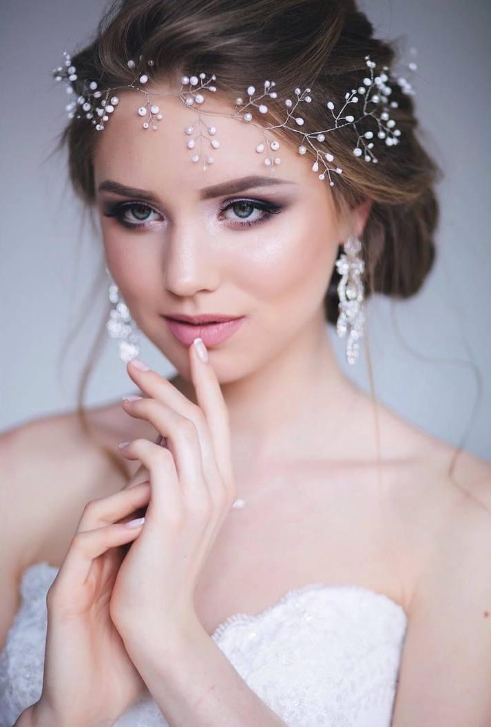 Короткие волосы свадебная прическа