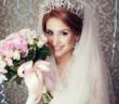 Прическа на свадьбу с тиарой