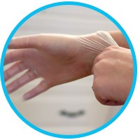 Использовании перчаток при окрашивании