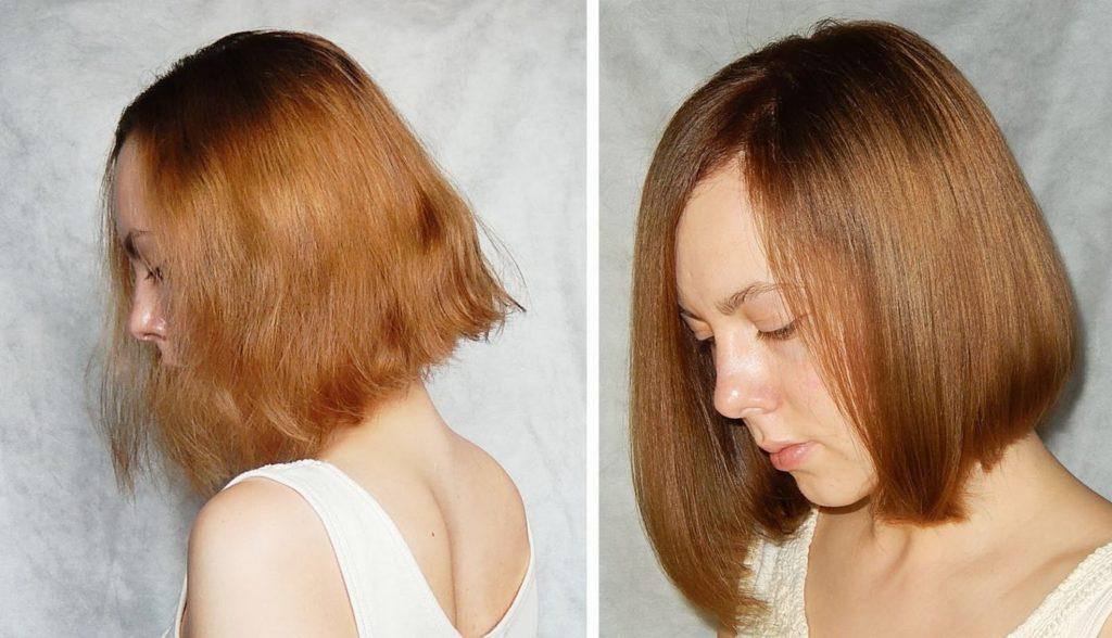 ламинирование волос при помощи желатина