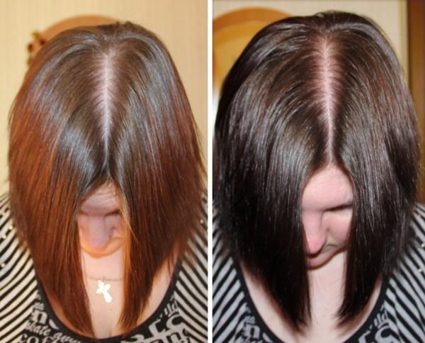 Окрашивание волос хной в каштановый