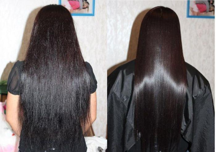 Последствия желатиновой маски для ламинирования волоса