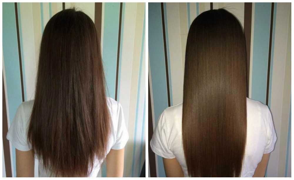 красивый эффект после ламинирования волос желатином