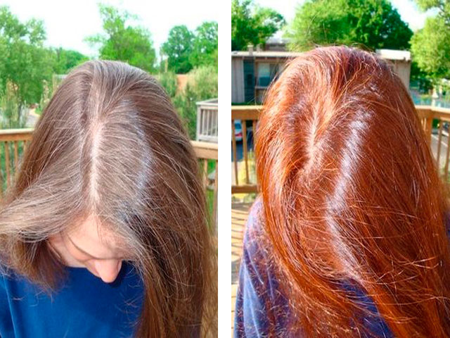 Как покрасить русый цвет в ярко рыжий