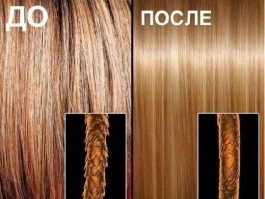 Как выглядит ламинирование волос