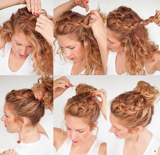 Как бстро легко уложить вьющийся волос
