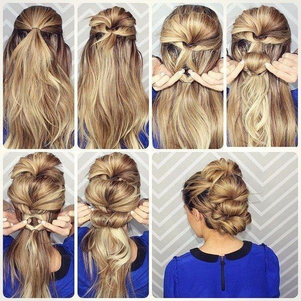 Укладка на длинный волос