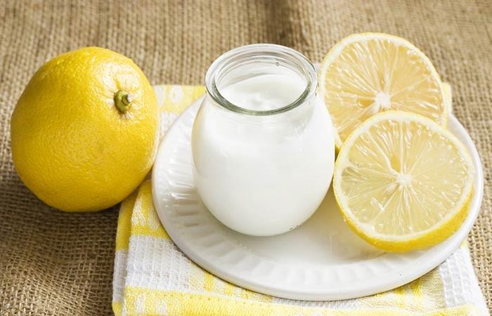 Йогуртовая маска для жирных волос с лимонным соком