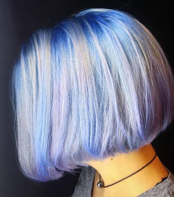 Цвет волос в стиле опал