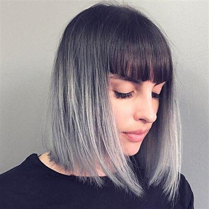Омбре на волосы средней длинны с удлиннением