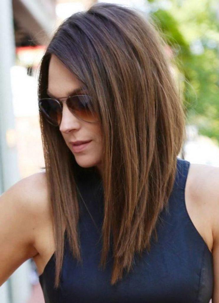 Стрижки на длинные волосы модные без челки