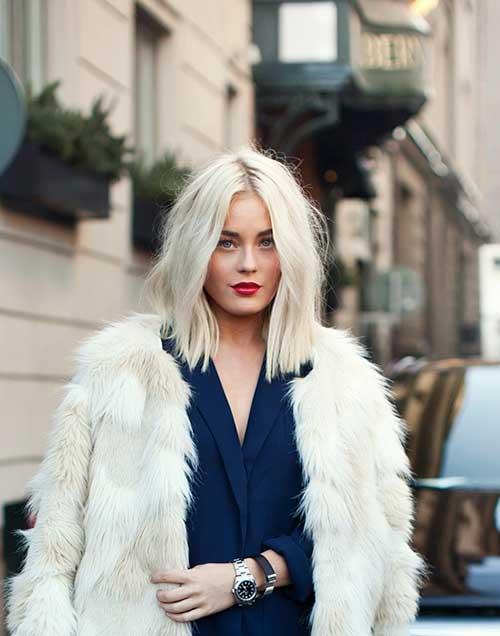 Каре с красивым блондом средней длинны