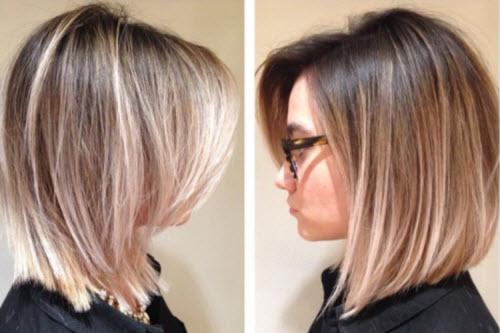 Каре с удлинением на короткие волосы