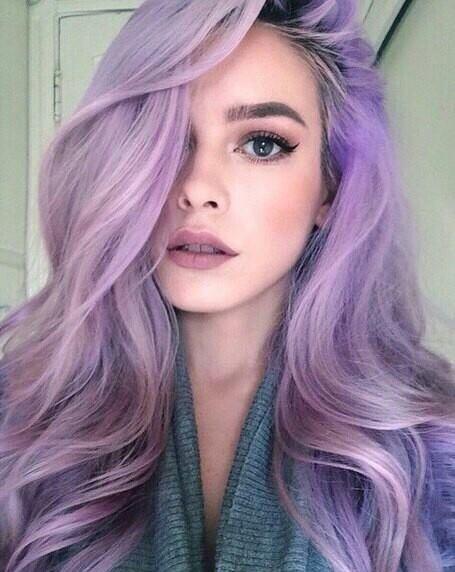 Фото серо-фиолетовых волос окрашивание аметист