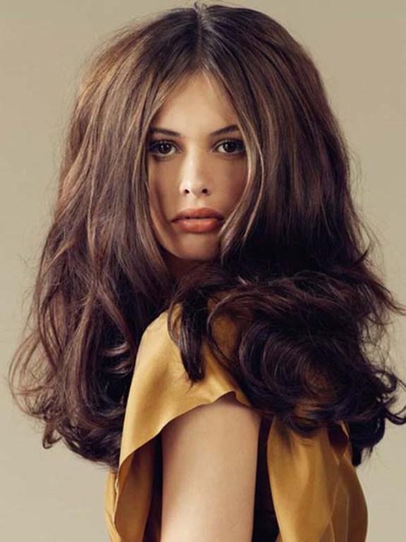 Укладка густого волоса