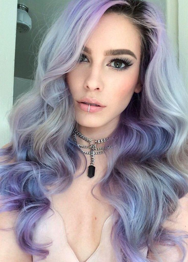 Фото окрашивания темно серый с темно-фиолетовым цветом