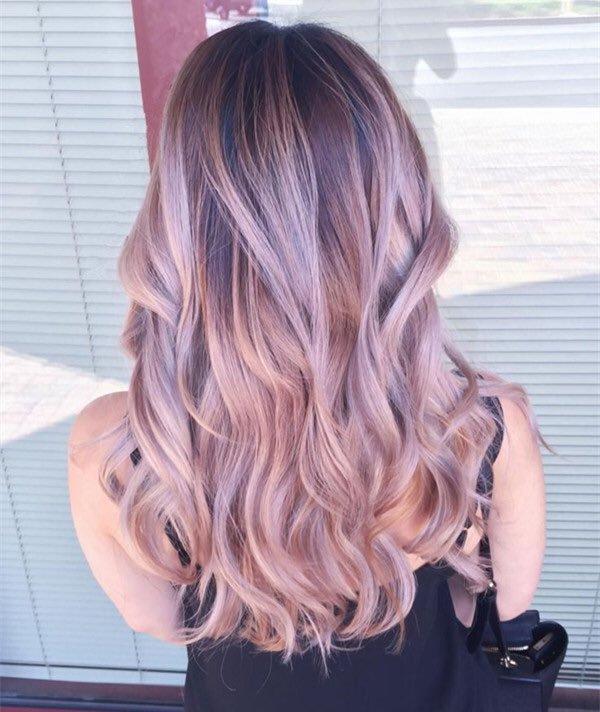 Серо розовые волосы красивая картинка