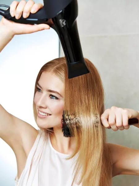Прямые волосы фото укладка феном