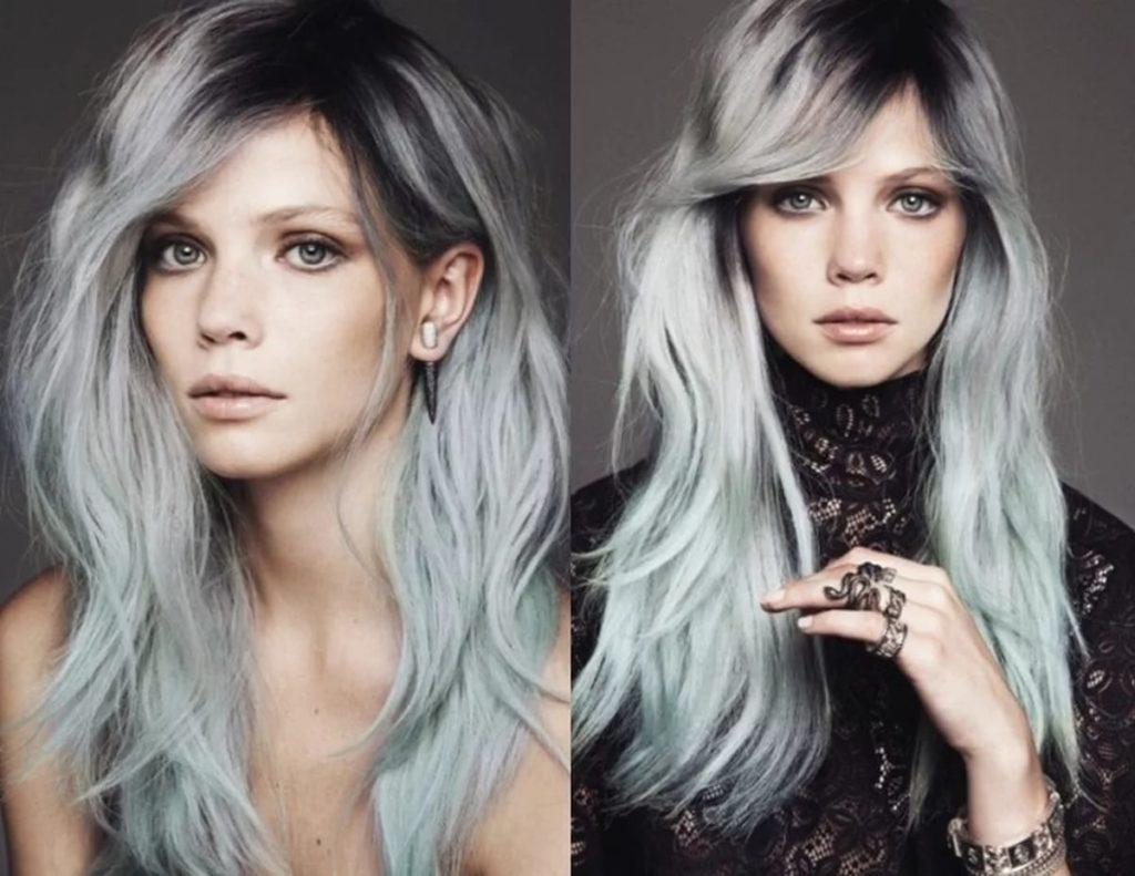 Красим седые волосы в темный цвет