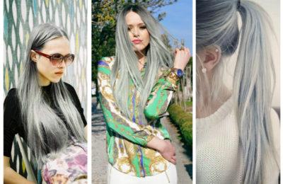 Какой вариант серых волос можно выбрать себе фотогалерея