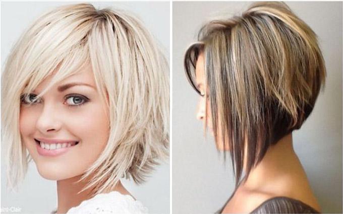Каре на короткие волосы с градуировкой