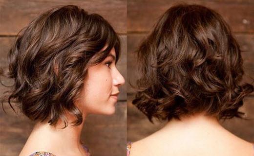 каре боб на кудрявые волосы фото
