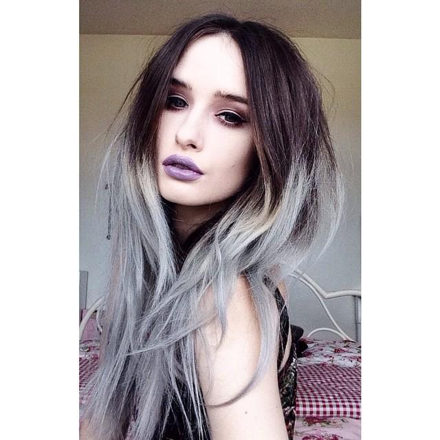 Шоколадно серые волосы