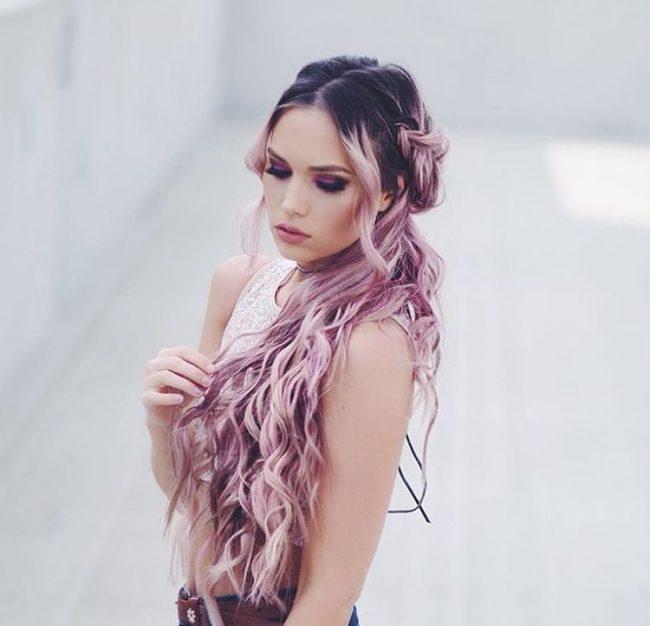 Серые волосы с розовыми концами фото