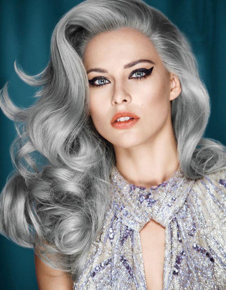Блонд пепельного оттенка с серебристым цветом в основе