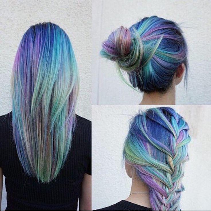 Шикарное окрашивание волос цвета опал