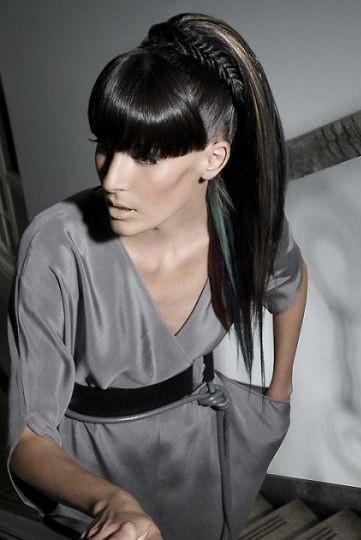 Волосы прямые хвост