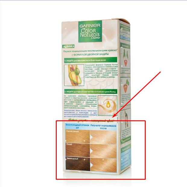 Как правильно подобрать оттенок гарньер колор нечералс