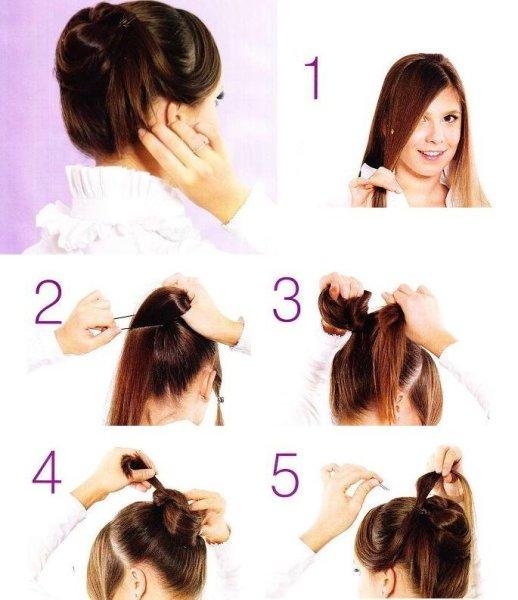 Как красиво собрать короткие волосы в вечернюю прическу