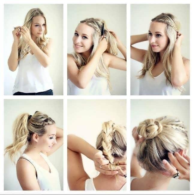 Волосы средней длинны прическа самой себе как сделать