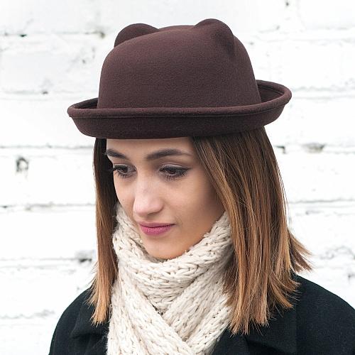 Зимняя шляпа из фетра чтобы не портить прическу